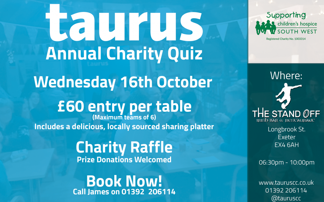 Taurus Annual Charity Quiz 2019